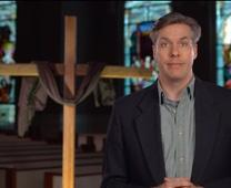 Screen image from Chuck Knows Church: Good Friday, courtesy of Discipleship Ministries of The United Methodist Church.