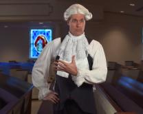 Chuck Knows Church dresses like John Wesley to tell a little about this founding father of Methodism