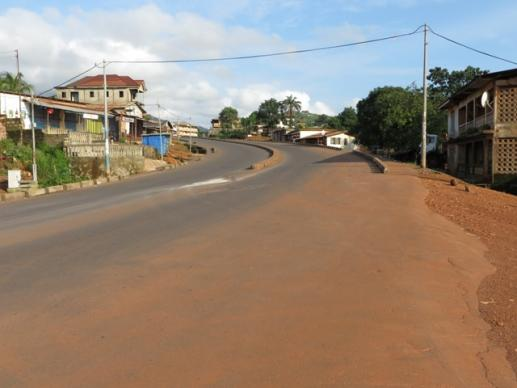Deserted streets in Freetown, Sierra Leone, made the city seem like a ghost town.
