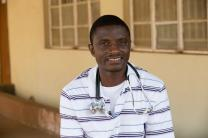 Dr. Martin Salia, shown at United Methodist Kissy Hospital outside Freetown, Sierra Leone, in March, has tested positive for Ebola.  .The hospital was closed Nov. 11 after Salia, chief medical officer and surgeon, received the diagnosis. Photo by Mike DuBose, UMNS