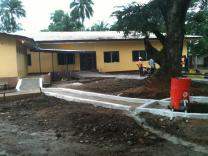 The new Ebola Center in Ganta City, Liberia.