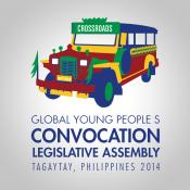 Logo for 2014 Global Young People's Convocation in Manila. Courtesy: GBOD