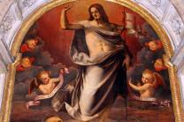 Detail from the painting, 'Christ Reborn,' 1852, in the Church of Santa Trinita, Florence, by Italian artist, Maso da San Friano. Photo by Sailko, courtesy Wikimedia Commons.