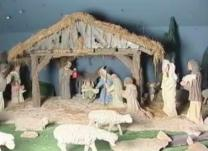 While being held in a POW camp in the U.S. during World War II, German prisoners made this Nativity. Video image courtesy of United Methodist Communications.