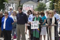 Christian prayer vigil against the return of electric chair in Tennessee.Photo by Mike DuBose, UMNS