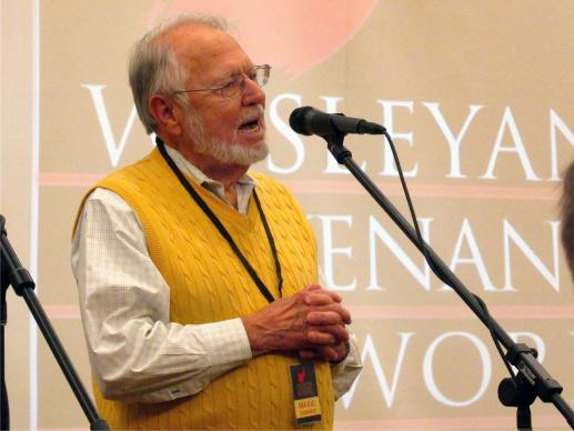 The Rev. Maxie Dunnam speaks Jan. 12 in Atlanta at the inaugural gathering of the Wesleyan Covenant Network.