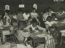 Archive photo of students at Sager Brown, a school and orphanage for African- American children.