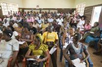 Community health workers undergo training in Bo. Photo by Mike DuBose, UMNS