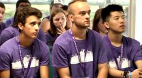Students participate in 2014 fall orientation for Southwestern College.