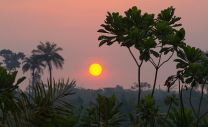 The sun rises outside Bo, Sierra Leone. Photo by Mike DuBose, United Methodist News Service.