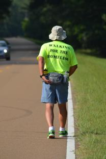 Troy Waugh walked 444 miles along the Natchez Trace in 2014.