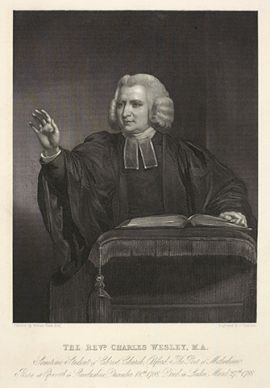 Charles Wesley is known for such hymns as
