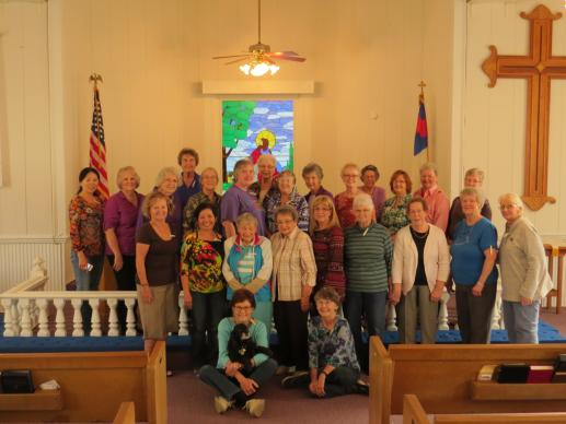 The Women's Fellowship at Poetry United Methodist Church, in Poetry, Texas, has twice been honored with a President's Volunteer Service Award. The women have sewn some 30,000 items for charity over 15 years. UMNS photo by Sam Hodges
