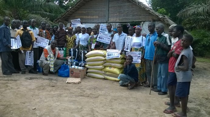 The Ebola crisis has also brought about economic hardship. Rice is delivered to church members and pastors who do not have a way to make a living during this time.