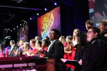 Combined choirs of Centenary College and Martin Methodist College sang during the morning worship and commissioning at the  2016 United Methodist General Conference.