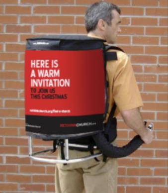 Street teams, toting state-of-the-art hot cocoa jetpack dispensers, will extend a warm invitation to