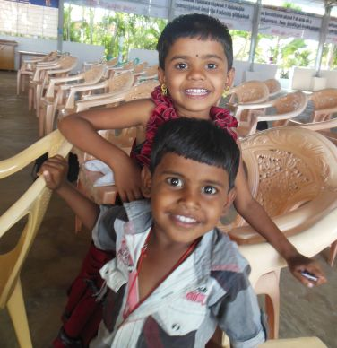 These two children in India were born HIV-free, thanks to a clinic in Namakkal that was initially started with a grant from the United Methodist Global AIDS Fund.