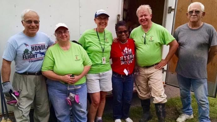 A volunteer team from the West Ohio Conference spent several days in Detroit helping homeowners affected by flooding. Photo courtesy of the Northwest Detroit Flood Recovery Project.