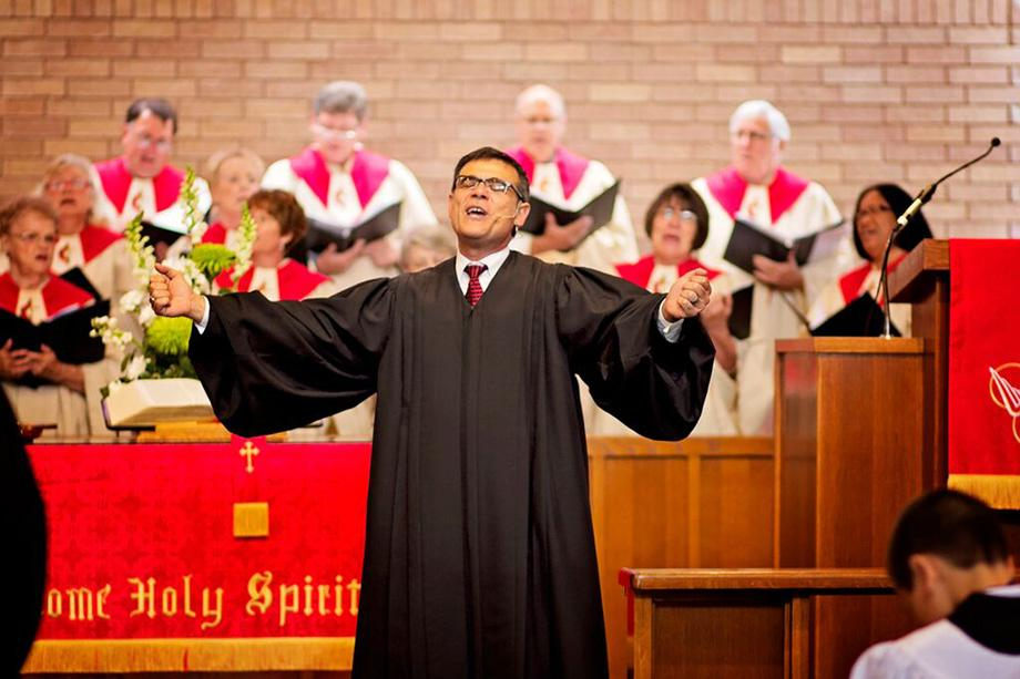 The Rev. Arturo Cadar is a full-time local pastor recently appointed to lead CrossRoads United Methodist Church in Houston. CrossRoads was created by the merger of an aging, Anglo congregation and a younger, primarily Hispanic congregation founded by Cadar. Photo courtesy of the Rev. Arturo Cadar.