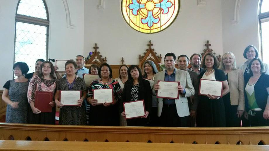 The Rocky Mountain Conference sponsored a Spanish-language local pastor licensing school in 2014, an effort to boost the conference's ranks of Hispanic clergy. Photo courtesy of the Rev. Kay Palmer Marsh.