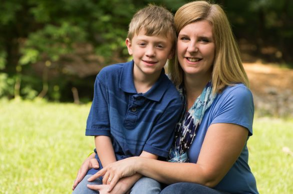 The Rev. Jennifer Long poses with her 9-year-old son, Jacob. Both battled malaria together in 2005 when Jennifer was pregnant.