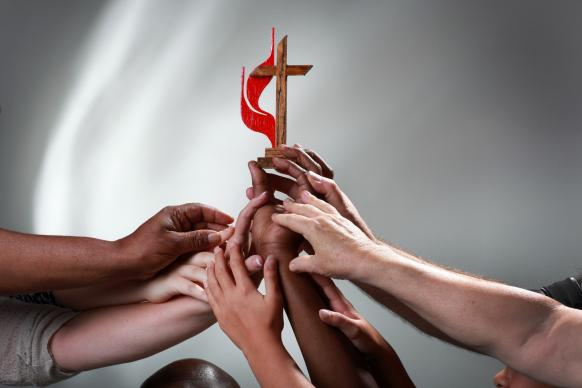 Unity in the United Methodist Church. Photo illustration by Kathleen Barry, United Methodist Communications.