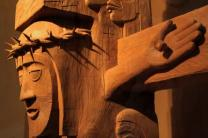 Indigenous peoples of the Pacific Northwest area in North America often passed knowledge on through totem poles. United Methodist pastor David Fison was inspired to create totem poles to tell the biblical stories of Easter and Christmas in symbols familiar to the native peoples.