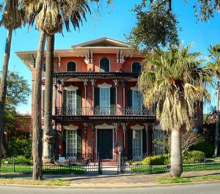 The Emancipation Proclamation was read from the front balcony of Ashton Villa in Galveston, Texas, on June 19, 1865, and is commemorated as Juneteenth.  Photo courtesy Wikimedia Commons.