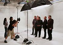 Country group Restless Heart is photographed in the studio of United Methodist Communications. Photo by Ronny Perry, United Methodist Communications. Cropped from original.