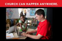 Church Can Happen Anywhere is a campaign for RETHINK CHURCH. Photos by Mike DuBose, courtesy of United Methodist Communications.