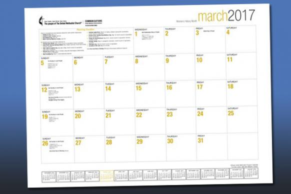 The Official United Methodist 2017 Program Calendar, produced by United Methodist Communications.