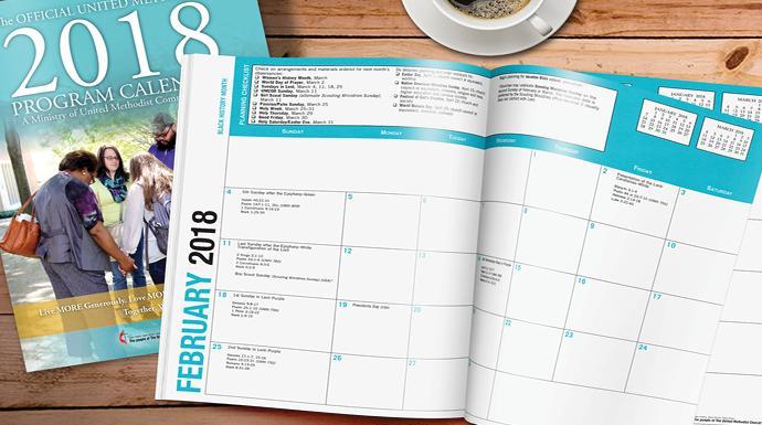 Calendar Booklet 2018 : Standard calendar united methodist communications