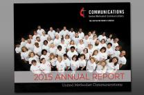 Cover of 2015 Annual Report of United Methodist Communications, the communications agency of The United Methodist Church.