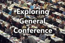 Delegates consider legislation during the United Methodist Church's 2004 General Conference in Pittsburgh. Photo by John C. Goodwin, UMNS, illustration by United Methodist Communications.