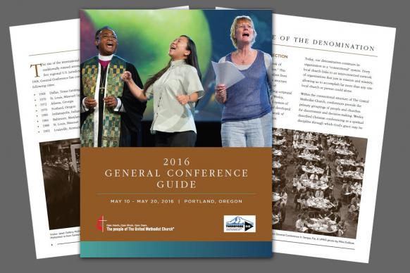 Photo illustration of 2016 General Conference Guide by Laurens Glass, United Methodist Communications.