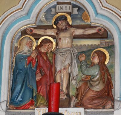 A depiction of Jesus dying by crucifixion from a Dominican Order church in Friesach, Austria. Photo by Neithan90, courtesy of Wikimedia Commons.