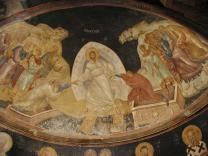 The Resurrection of Christ, Dome of the Chora Church, Istanbul. Public domain.