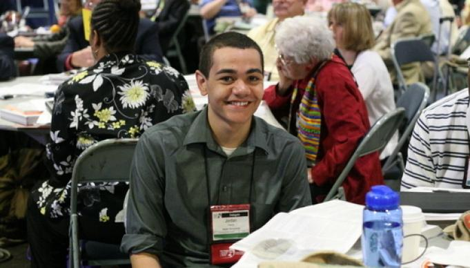 Jordan Harris is the youngest person since the 1970s to become a voting delegate from the Eastern Pennsylvania Annual (regional) Conference.