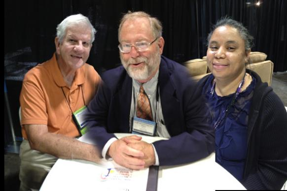 Jim Bickerton, Mark Wharff, and Harriette Cross