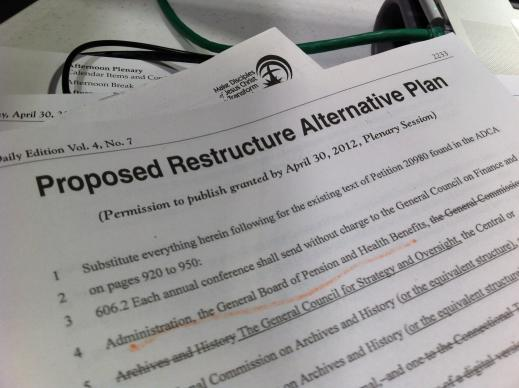 The proposed restructure alternative plan is roughly 70 pages long.