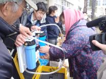 Shortly after Japan's triple disaster, UMCOR partner GlobalMedic provided affected communities with access to clean water through water purification units. Photo: GlobalMedic
