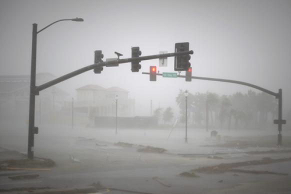 Wind and rain batter Gulfport, Miss., as Hurricane Isaac makes landfall on the U.S. Gulf Coast along the same track and nearly seven years after Hurricane Katrina. (U.S. Navy photo by Mass Communication Specialist 1st Class R. Jason Brunson/Released)