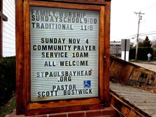 St. Paul's United Methodist in Bay Head, N.J., is feeding 200 people a day after the destruction of Hurricane Sandy left the pastor and his family homeless and the area without electricity or gas. A web-only photo courtesy of St. Paul United Methodist Church/Bay Head, NJ.