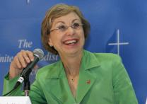 Bishop Janice Riggle Huie. A UMNS 2008 file photo by Maile Bradfield.