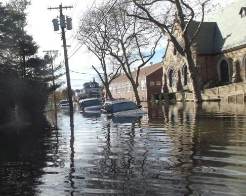 The parsonage and church of First United Methodist in Belmar, N.J. suffered extensive water damage. Photos courtesy of the Rev. Eugene Chamberlain.