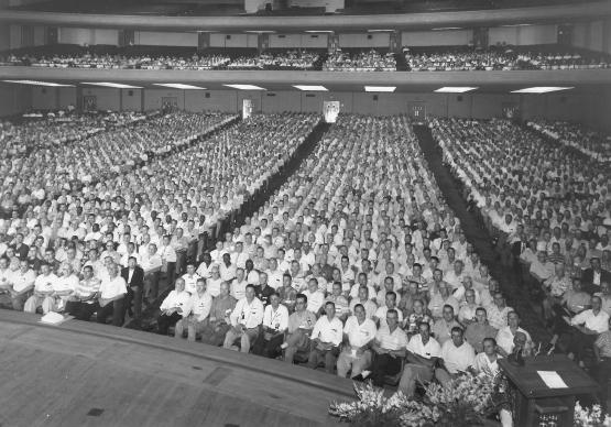 The 1957 gathering of United Methodist Men at Purdue University in West Lafayette, Ind.