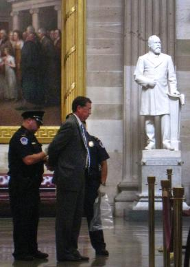 Jim Winkler was among 11 faith leaders arrested for refusing to stop public prayers in the U.S. Capitol Rotunda in July 2011. The group agreed to a pretrial resolution of the misdemeanor charges. A UMNS photo by Jewel DeGuzman.