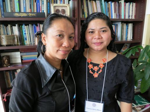 Norma Dollaga, left, and the Rev. Connie Semy Mella of the Philippines were among the 23 participants in the Feb. 12-15 gathering at the Church Center for the United Nations. UMNS Photo by Linda Bloom.