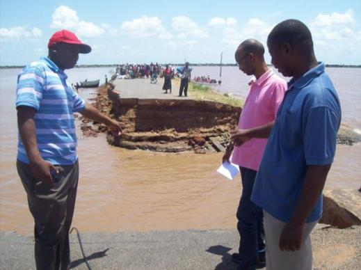 Among the many obstacles faced by flood relief workers is impassable roads.