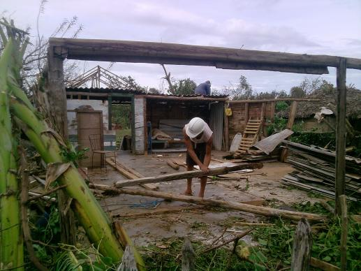 The home of Yoandris Ramírez in El Ramón, Holguín Province, was destroyed by Hurricane Sandy.